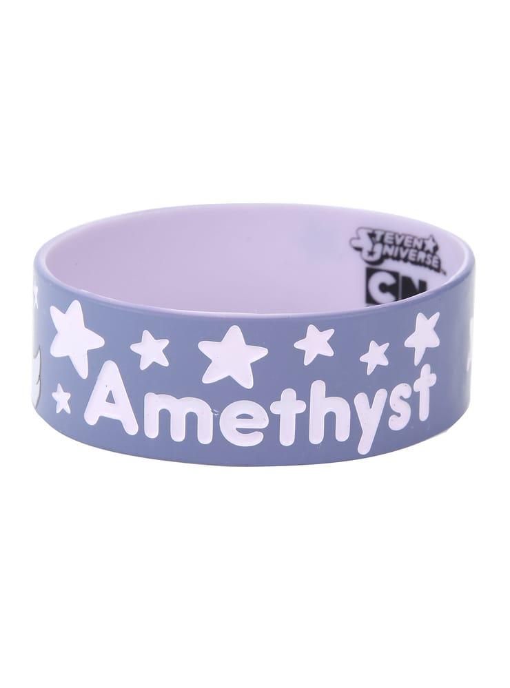 Steven Universe Amethyst Rubber Bracelet
