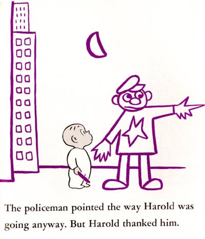 Picture of harold and the purple crayon 50th anniversary for Harold and the purple crayon coloring pages
