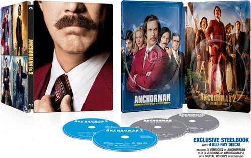 Anchorman 1: The Legend Of Ron Burgundy & Anchorman 2: The Legend Continues Steelbook (Blu-Ray + Dig