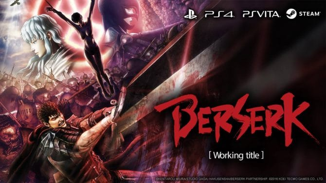 Berserk for PS4/PS Vita/PC Gets Western Release Window and Official English Info and Screenshots