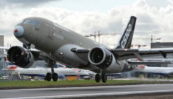 Bombardier C Series Aircraft completes non-stop flight from London City Airport to John F. Kennedy Airport, New York