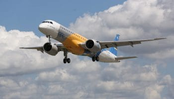 Embraer's E195-E2, the most efficient new-generation jet in the world, flew ahead of schedule