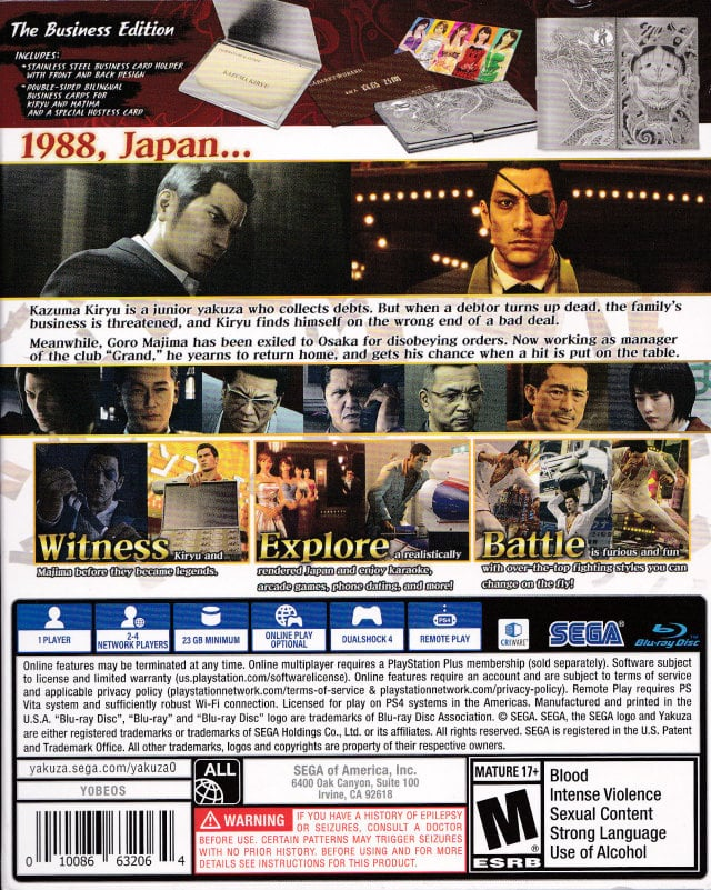 Yakuza 0: The Business Edition