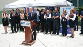 Florida Governor tours MIA, receives update on airport's cargo operations
