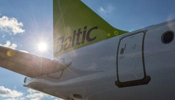airBaltic receives a CS300 from Bombardier