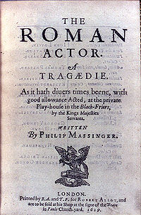 The Roman Actor: By Philip Massinger (Revels Plays MUP)