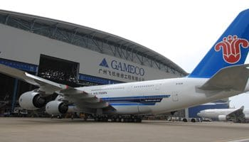 GAMECO completes first A380 6-Year Check for China Southern Airlines