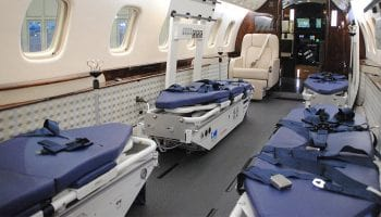 Jet Aviation receives two Medevac conversions for Embraer Legacy aircraft in Basel, Switzerland