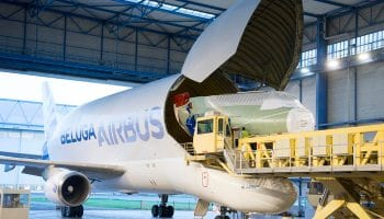 Airbus' BelugaXL receives its nose section