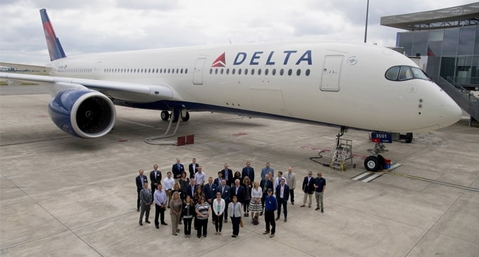 Delta Air Lines takes delivery of first flagship Airbus A350-900