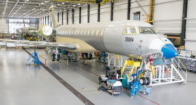 Global 7000 Aircraft Programme exceeds 500 flight test hours and production ramp up already underway