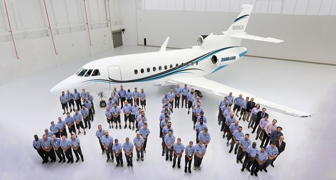 Dassault Aviation delivers 2,500th Falcon Business Jet