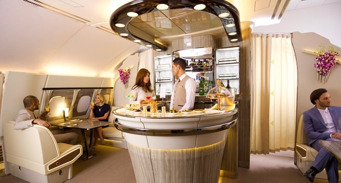 Emirates celebrates 9 years of the A380 service as recently revamped Onboard Lounge takes off