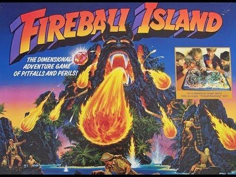 Milton Bradley - FIREBALL ISLAND - adventure game (Rare)