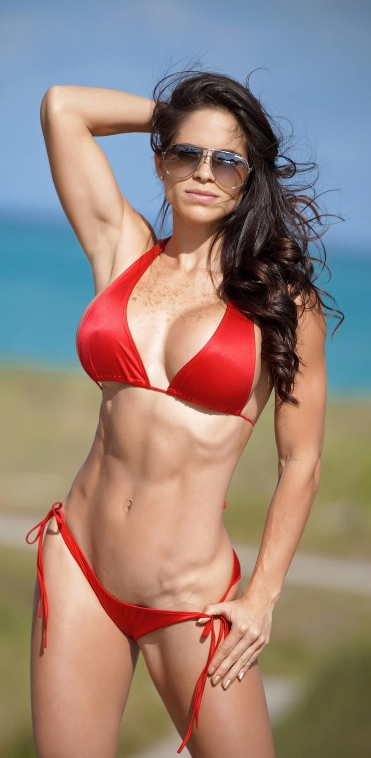 Fitness and Playboy model Michelle Lewin in bikini display