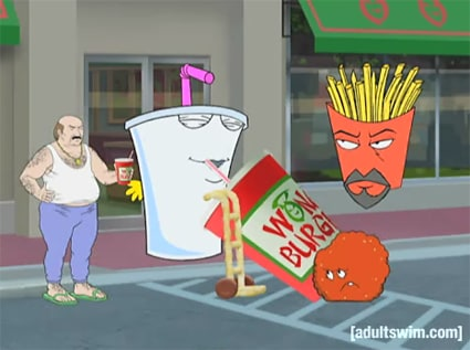 Refrigerator And if the aqua teen Claus new