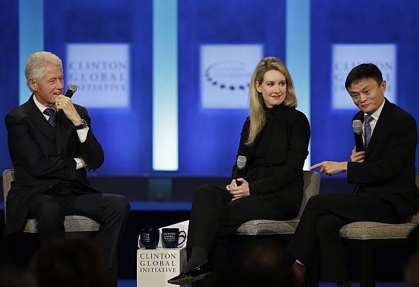 Bill Clinton, Elizabeth Holmes, Jack Ma