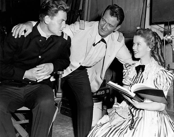 John Agar, John Wayne, Shirley Temple
