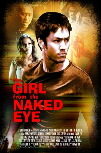 cover the girl from the naked eye