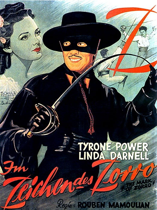 Picture of the mark of zorro for Cocktail zorro