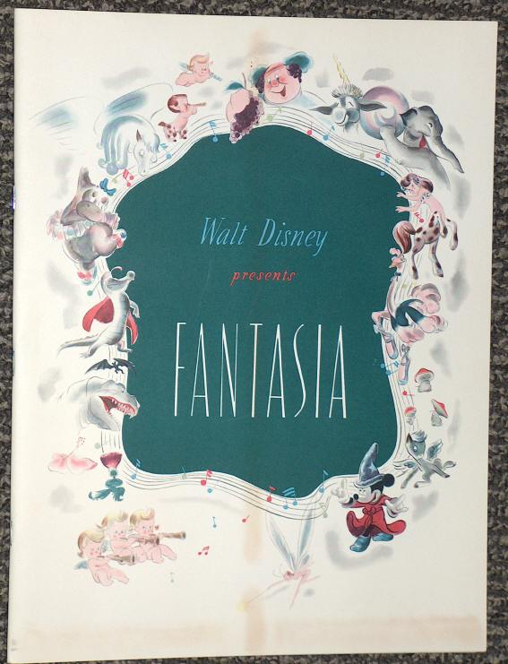 Walt Disney Presents Fantasia Program