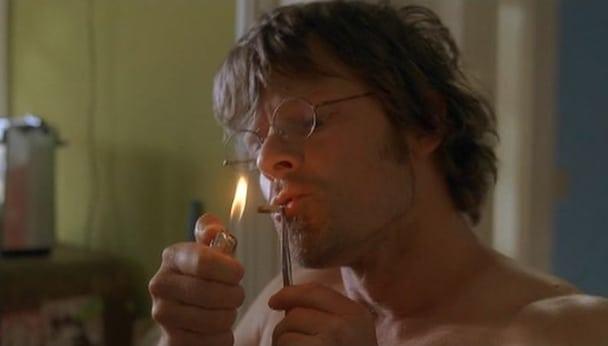 Steve Zahn smoking a cigarette (or weed)