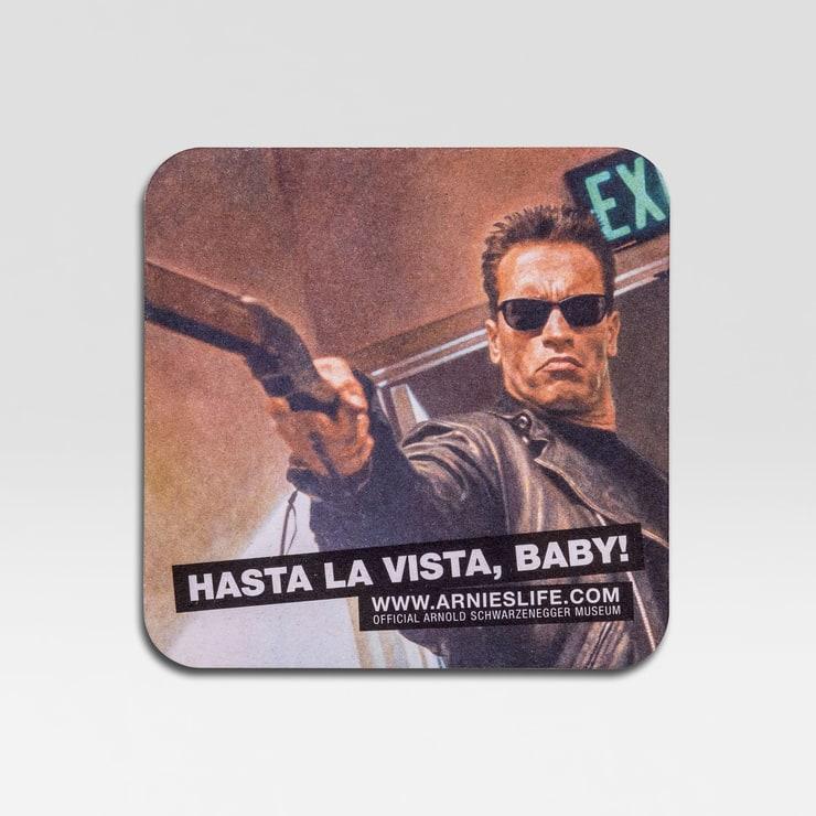 Official Arnold Schwarzenegger Museum Coaster