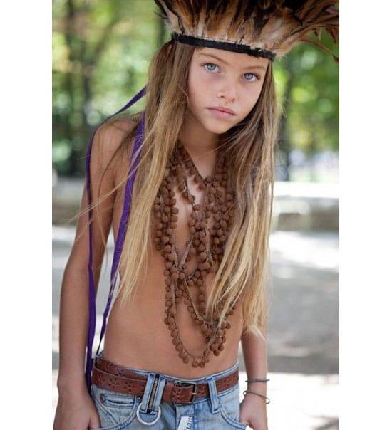 Little girl models taboo.