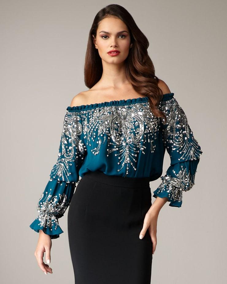 Платье с вышивкой бисером своими руками