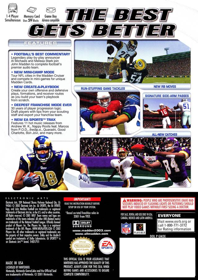 Picture of Madden NFL 2003