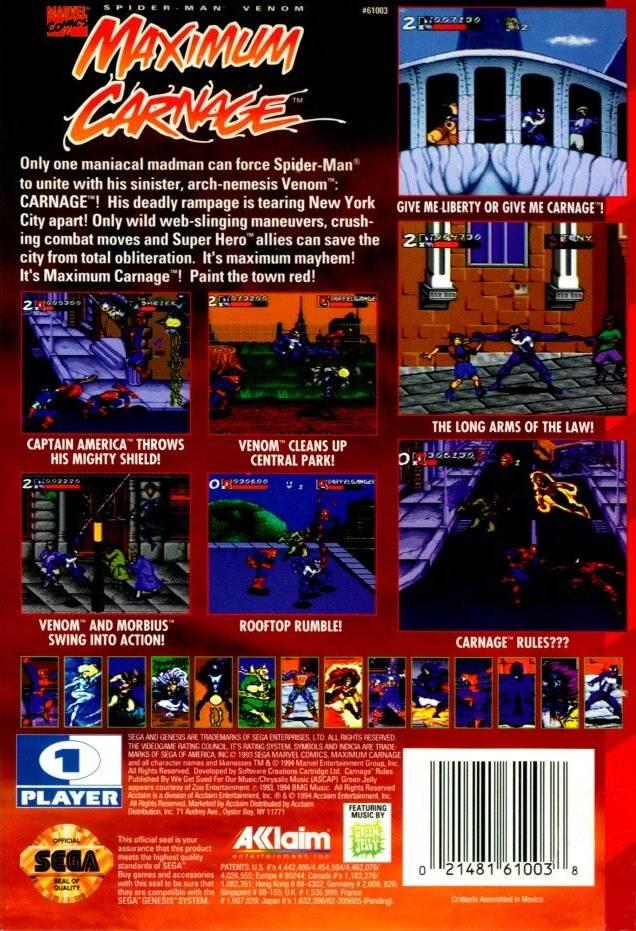 Picture Of Spider Man Venom Maximum Carnage
