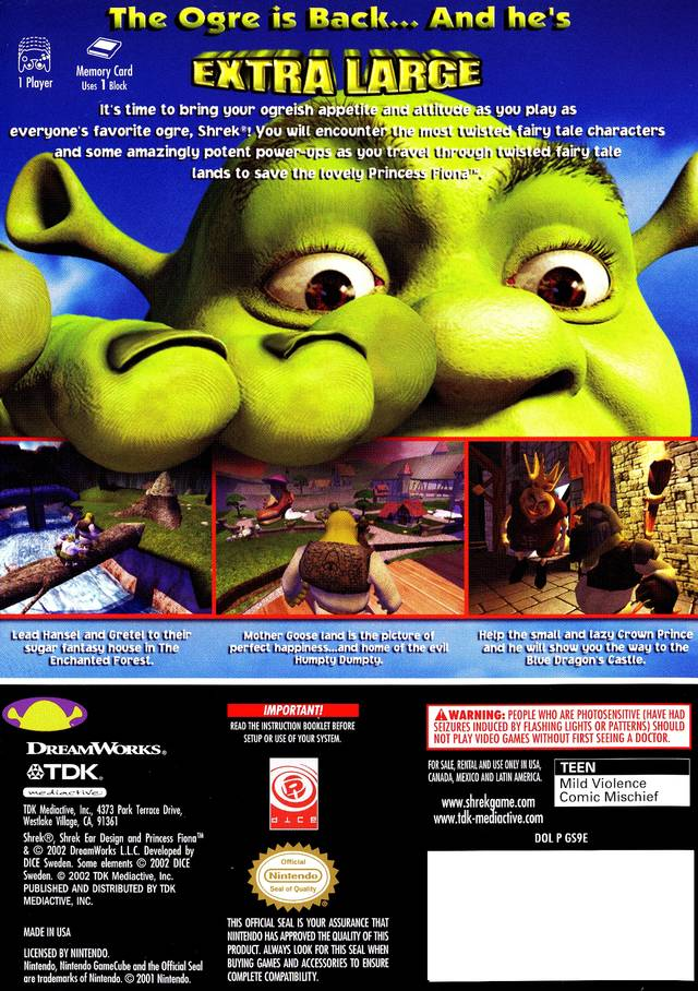 Picture Of Shrek Extra Large