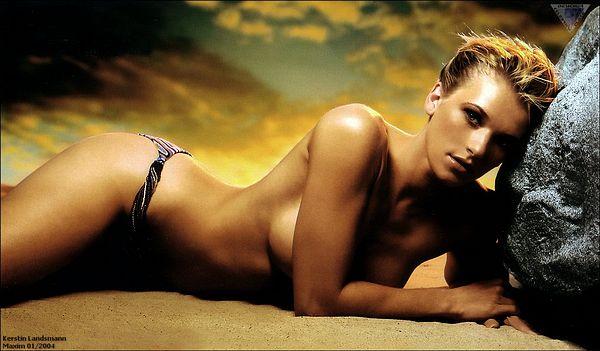 Naked girl diving board