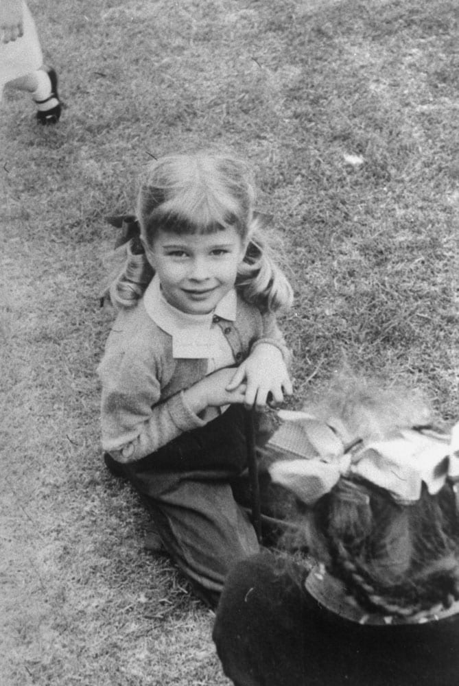 Candice Bergen as a child