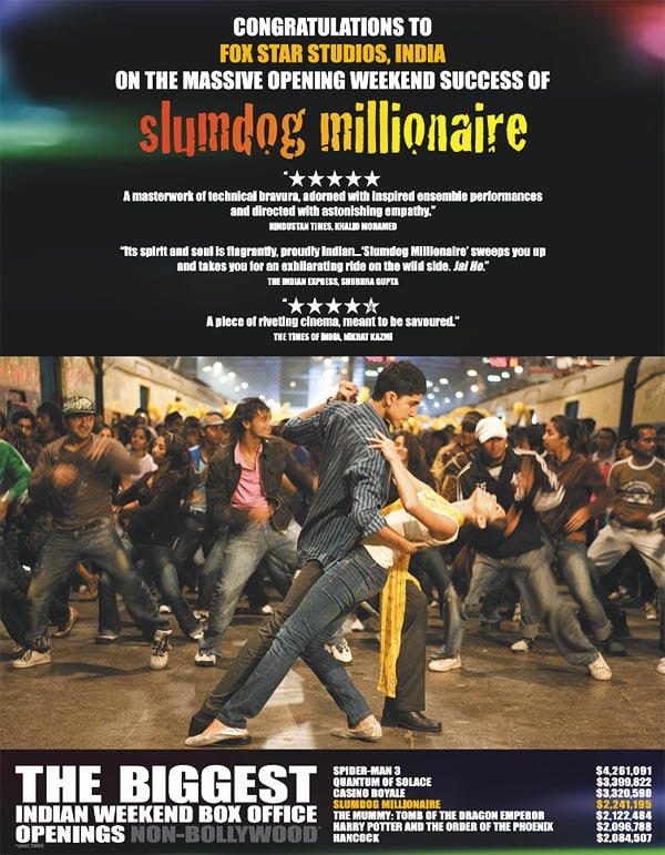 to what extent is slumdog millionaire an Danny boyle's slumdog millionaire is a prototypically neoliberal narrative of the entrepreneurial individual who succeeds by capitalizing on their knowledge it excludes the possibility of collective and political responses to the poverty it represents.