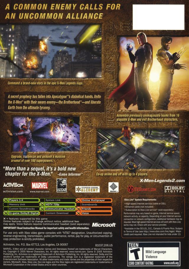 x-men legends 2 rise of apocalypse pc indir