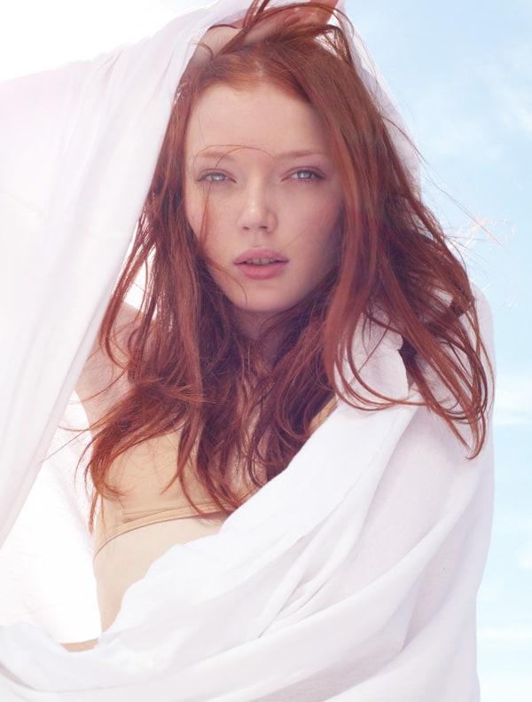 Pale white redhead