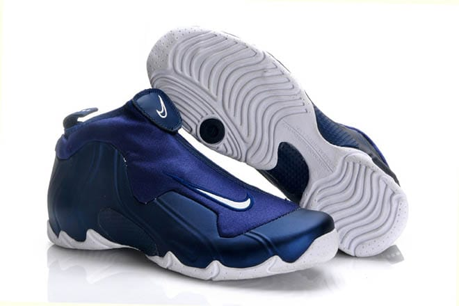 new products d871c bdb11 Picture of nike air flightposite one navy blue and royal blue and white men  basketball shoes
