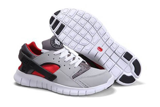8344f8630f2 Picture of Nike Huarache Free 2012 Running Shoe Wolf Grey Cool Grey Varsity  Red Mens
