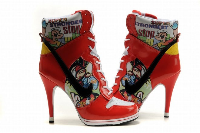 new concept c0913 6f323 ... buy picture of nike dunk sb high heels white red ff296 3a6cc