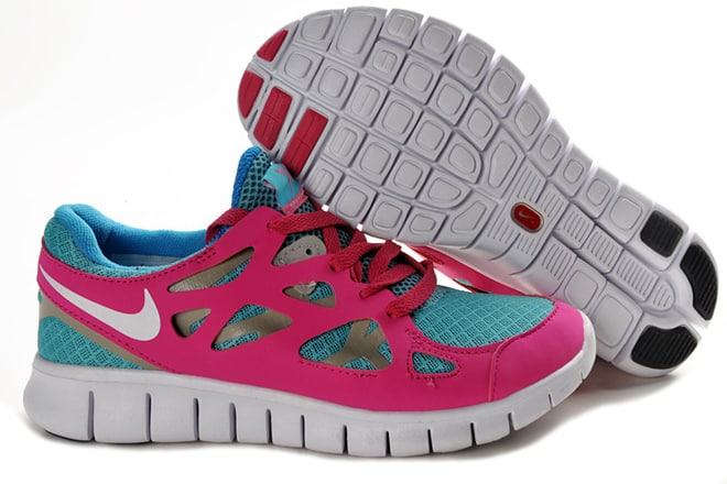 a449d1b05180 ... promo code for picture of nike free run 2 bright turquoise white pink  flash grey womens