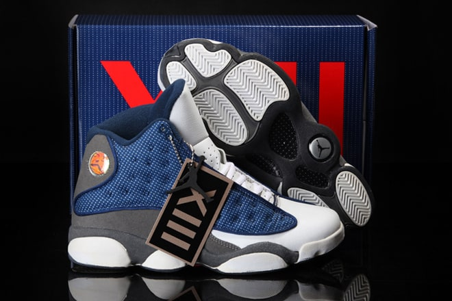 ba262737c54 Picture of Air Jordan 13 Flints Men Shoes:French Blue/University Blue/Flint  Grey Retro Nike Sneakers