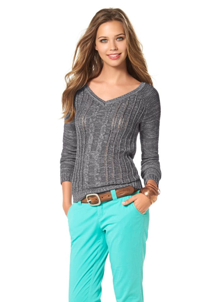 Красивый Ажурный Пуловер С Доставкой