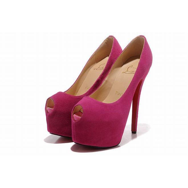 picture of pink christian louboutin highness 160mm platform peep toe rh listal com