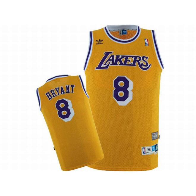68d8611269d Picture of Kobe Bryant #8 Lakers Yellow Adidas Swingman Jersey Purple  Numbers