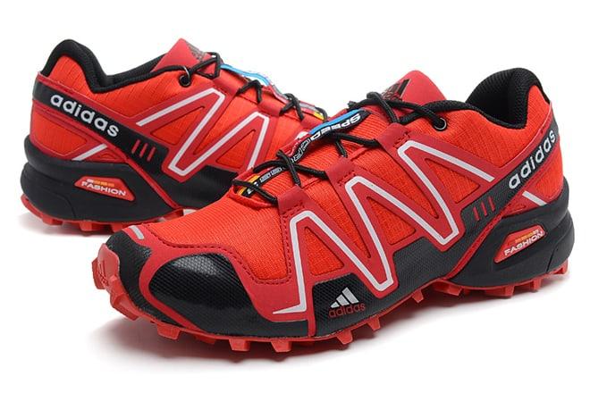 ramasser 9b840 19d53 Picture of Adidas Salomon Mens Varsity Red Black Shoes