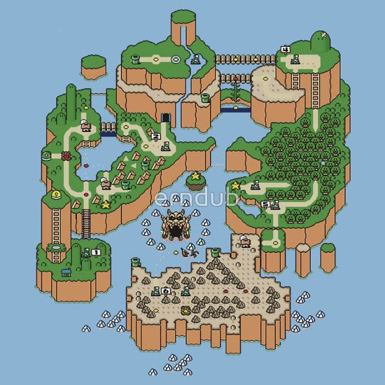 Picture of Super mario world map