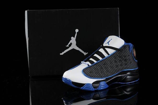 huge selection of 1b7de ba8a1 Picture of Youth Air Jordan Shoes Retro 13 Kids Shoes (White Black Royal  Blue)