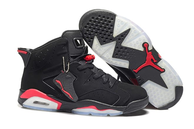low priced 484a7 e2fd2 Picture of Black Red-Air Jordan Retro 6 Bred-Men-Basketball-Shoes