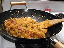Kimchi bokkeumbap (김치볶음밥)